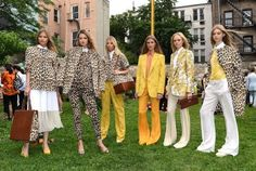 LOVE the yellow & leopard mix---SPRING 2013