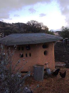 Wattle & daub chicken coop