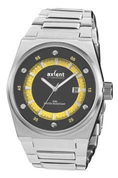 Axcent of Scandinavia Banger Rolex Watches, Watches For Men, Watch 2, Casio Watch, Black N Yellow, Chronograph, Bracelet Watch, Quality Watches, Bracelets