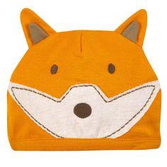organic baby fox hat