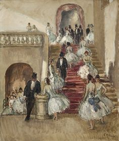 Foyer of the Opera - Jean Louis Marcel Cosson