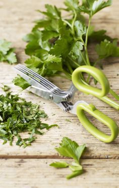 Herb Scissors - has 5 blades to cut herbs faster