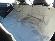 Lyzzo Dog Travel Mat - Extra strong waterproof protector for your car backseat.  Stop tears and scrapes from your dog riding in the car with you.