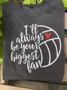 Excited to share this item from my shop: I'll always be your biggest fan volleyball mom volleyball shirt love volleyball volleyball mom shirt biggest fan mom shirt volleyball Volleyball Shirts, Volleyball Shirt Designs, Volleyball Outfits, Volleyball Quotes, Volleyball Pictures, Volleyball Setter, Volleyball Drills, Coaching Volleyball, Cheer Pictures