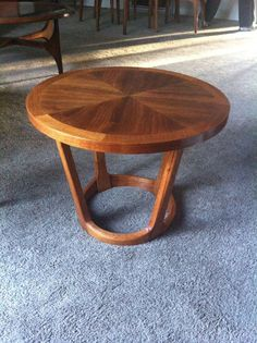 Mid Century Modern vtg glass wood coffee table danish style Lou