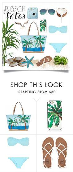 """Palm Beach"" by funsizelaura ❤ liked on Polyvore featuring Kate Spade, Fuji, Melissa Odabash, Billabong, Tiffany & Co. and beachtotes"