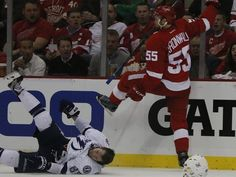 Niklas Kronwalled Him And He Just Fell Asleep On The Ice Well If He Wants To Nap Someone Help Him To The Locker Room