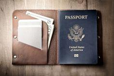f0c7abddd4 Leather Passport Wallet by Mr. Lentz   HiConsumption Cuir, Conditionneur De  Cuir, Etsy