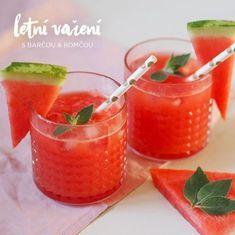 Domácí melounová limonáda Healthy Drinks, Cantaloupe, Smoothies, Strawberry, Food And Drink, Yummy Food, Fruit, Syrup, Smoothie