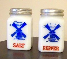 Milk glass salt and pepper shaker My mom had these!