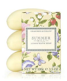 Crabtree and Evelyn Summer Hill Triple-Milled Soap - smells amazing!