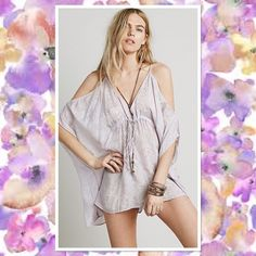 Free People Doin It Kromper Romper *nwt* Made from our sheer and lightweight Endless Summer fabric, this oversized and shapeless kaftan romper features a V-neckline with an adjustable drawstring below the bust. Low back with a tie closure. Throw on top of a bikini or layer over one of our seamless styles for an effortless look. Free People Shorts