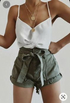 Trendy Summer Outfits, Summer Fashion Outfits, Casual Summer Outfits, Short Outfits, Outfits For Teens, Stylish Outfits, Spring Outfits, Weekly Outfits, Summer Clothes