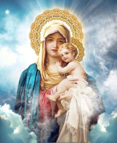 Virgin Mary with Child Jesus Catholic Art, Religious Art, Print by Sandra Lubreto Dettori