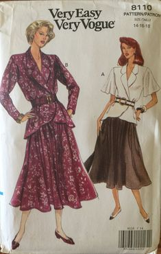 VTG 8110 Vogue 1991 Very Easy Very Vogue by ThePatternParlor
