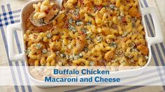 Comfort food alert! This PERDUE® Buffalo Chicken Macaroni and Cheese is fall comfort food at its best!