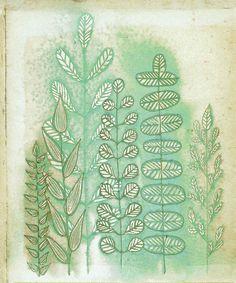 LOVVVEEE her work---Art Print  Woodland Ferns 8x10 by calamaristudio on Etsy, $13.00