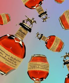 """Blanton's was the world's first """"single barrel"""" bourbon. Single barrel isn't a legal term. Blanton's Bourbon, Bourbon Gifts, Bourbon Drinks, Good Whiskey, Cigars And Whiskey, Scotch Whiskey, Best Beer To Drink, Single Barrel Bourbon, Best Bourbons"""