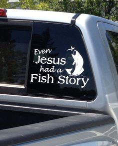 Fishing Car Decal Jesus Fishing Story Car Sticker by bushcreative, $15.00