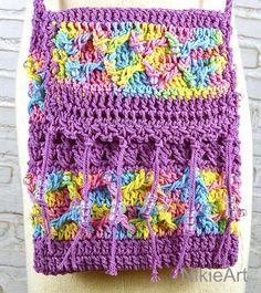 Festival Pouch Deep Purlple crossbody bag Purple Bead by NikieArt