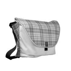 Snow Gray Plaid Large Fashion Bag by Janz
