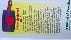 Johnny Appleseed Hats - mailbox Superbook preK