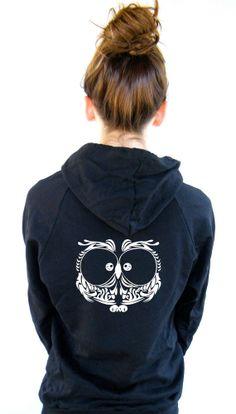 Womens Owl Sweatshirt American Apparel by FeistyFashion on Etsy, $36.00