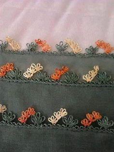 Bazı örneklerin yapılışlari(alıntı) All Craft, Needle Lace, Crochet Borders, Needlepoint, Applique, Embroidery, Sewing, Knitting, Diy Crafts