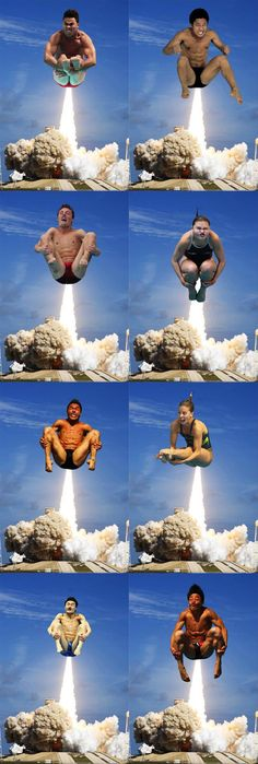 Olympic divers + photo shop = I just laughed way too long at this!