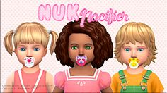 Sims 4 CC's - The Best: NUK Pacifier - ACC by Miguel Creations