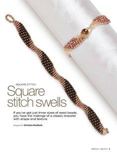 Jewelry making, Beadwork i inne popularne na Pinte. Beaded Braclets, Beaded Bracelet Patterns, Seed Bead Bracelets, Seed Bead Jewelry, Seed Beads, Beaded Jewelry Designs, Bracelet Designs, Handmade Jewelry, Bracelet Tutorial