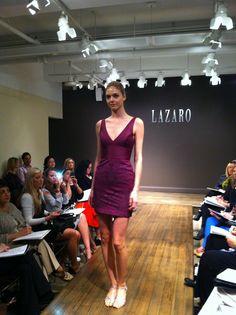 Wine laser cut lace cocktail dress. #NoirbyLazaro