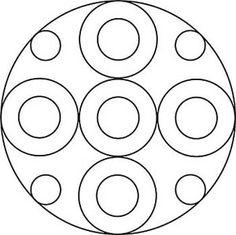 Mandala mit großen und kleinen Kreisen