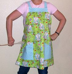 Comfortable, casual and fun!  Apron SmockNo TieOne Size Blue Green by SusiesTieOneOnAprons  Is there a COUPON CODE for this?  Check the Shop Announcements for any current codes (page 1)