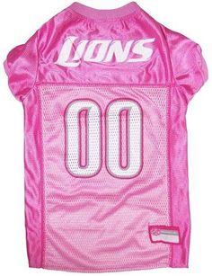 ab372ed519c Detroit Lions Pink Jersey. Pink FootballFootball JerseysDog FootballLion  DogNfl ...