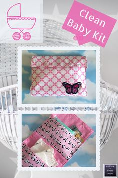 Baby Essentials Clutch, Handy Travel Wallet, Clean Baby Kit, New Mum to be Present - Modern Baby Wipe Case, Wipes Case, Nappy Wallet, Hospital Bag Checklist, Presents For Mum, Diaper Clutch, Jewelry Roll, Baby Kit, Handmade Cushions