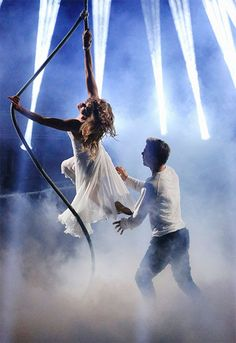 Amy Purdy and Derek Hough appear in a still from 'Dancing With The Stars' season 18 on May 19, 2014.
