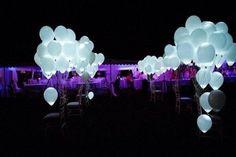 50 globos con luz led para boda xv años bautizo y más evento