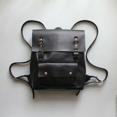 Купить Кожаный рюкзак - однотонный, кожаные аксессуары, из кожи, женские аксессуары, женский кожаный рюкзак
