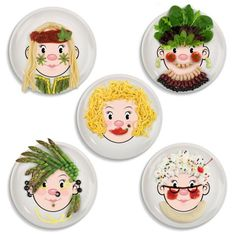 sc 1 st  Pinterest & Holiday Gift Idea: Food Face Dinner Plates | Dinners Face and Food