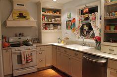 Vintage Inspired Kitchen Kitsch for sure! eclectic kitchen