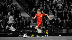 Kevin de Bruyne of the Belgian World Cup 2014 team.