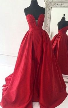 Red Prom Dress,Evening Dress
