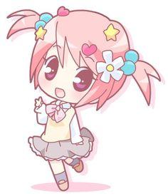 Cute chibi school girl