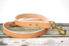 Simple dog leash by HunterPassLeather on Etsy, $50.00