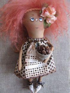 Коллекционные куклы ручной работы. Ярмарка Мастеров - ручная работа. Купить Крылатыш Кофейный. Handmade. Коричневый, текстильная кукла