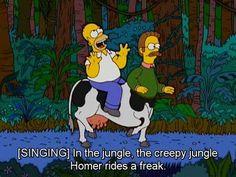 Homer rides a freak!