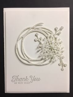 As I'm putting my Christmas gifts away I am finding I need to make some more thank you cards.    Today's card was inspired by a card I fo...