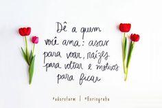 Dê a quem você ama: asas para voar, raízes para voltar e motivos para ficar ❤️ @adorofarm