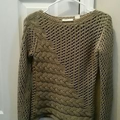 EXTREMELY STYLISH SWEATER BY DKNY This tan sweater by DKNY, is absolutely to die for! High quality, as all you ladies know, from such a reputable brand. Only worn a couple times and is in mint condition! Ladies, notice the absolute gorgeous stitching on this, sweater! I've never seen one like it! Ladies,   Treat yourself to a fabulous sweater that you can either dress up or dress down, either way it will be a absolute fabulous addition to your closet! Great for every season of the year but…